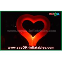 Quality Nylon Cloth Party Inflatable Light Decoration Red Heart Shape For Event Wedding for sale