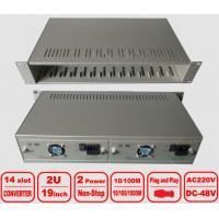 """Quality 2U 14-slot Media Converter Chassis, 19"""" centralized management Rack, double power for sale"""