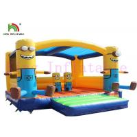 Quality Durable PVC Mimion Inflatable Jumping Castle With Roof For Outdoor Playground for sale
