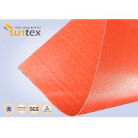 Quality Silicone Coated Bulk Fiberglass Cloth Roll Resistant High Temperature Up To 1000 C Degree for sale