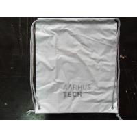 Quality Personalized PP Promotion  Packaging / White Plastic Drawstring Backpack for sale