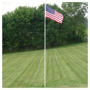 Quality retractable 4 - section outdoor fiberglass flag pole 12FT fiberglass extension pole for sale