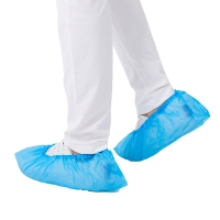 Quality SC03 Disposable Shoe Covers Non Slip Blue Surgical Anti Static for sale