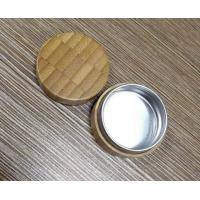 Quality Eco friendly bamboo packaging wooden cosmetic jar with aluminum inner for sale