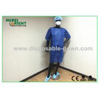 Quality Breathable Polypropylene Disposable Patient Gown 45g/m2 For Operation Room for sale