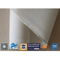 Quality 1.3MM White High Silica Fabric Heavy Duty 1200℃ 36OZ Durable Fire Blanket Cloth for sale