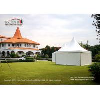 Quality Outdoor Party Gazebo Canopy Marquee 5x5m With Plain White PVC Sidewall Around for sale