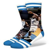 China Custom dye sublimation full printed OEM knitted mid calf tube cotton socks on sale
