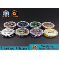 Quality ABS Casino Poker Chips , Gambling Plastic Sticker Poker Chips Coins Yangming for sale