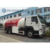 Quality SINOTRUK HOWO 24m3 Bulk LPG Tank Trailer For Dispensing Cooking Gas for sale