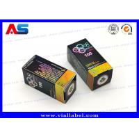 Quality Full Color 10ml Vial Boxes / Paper Packaging Medicine Storage Box Hologram Printing for sale