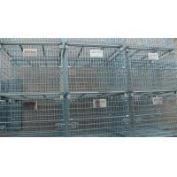 Quality Stacking 4 Tier Wire Mesh Containers Collapsible Wire Cage Without Rack System for sale