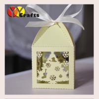 China Wedding Gift Boxes Free logo laser cut indian Wedding Favour Box Sweet boxes ribbon from YOYO crafts for Christmas Day on sale