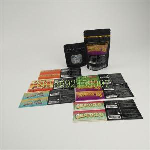 China Moisture Proof 3.5g Zipper Top Bag , Stand Up Pouch Jungle Boy Sticker Mylar Packaging on sale