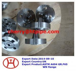 China ASTM A694 GR.F65 WN  flange on sale