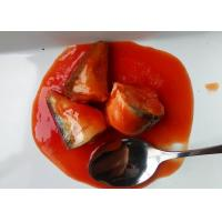 Quality Tinned Mackerel Fish Body Part / Tail / Whole Piece In Tomato Sauce for sale
