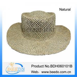 76b4c57d4bf00 China Natural salt grass straw wide brim cowboy hat for men on sale .