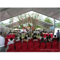 China 10X15 M White UV Protective Clear Span Fabric Buildings , Clear Span Marquee Hire on sale