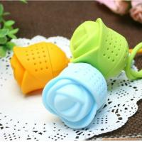 China Rose shape Shaped Silicone Tea Infuser/Silicone Tea Strainer ,silicone tea Filter tool on sale