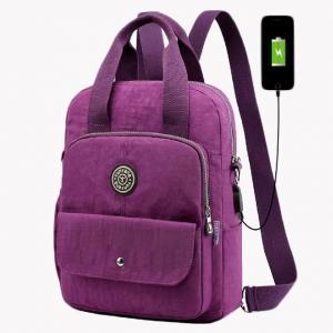 Quality Nylon USB Charging Stylish Travel Backpacks For Girl for sale