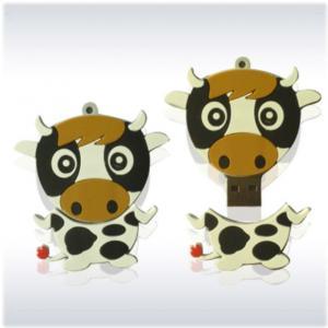 Quality Cute Milk Cow Shape USB Flash Drives for sale