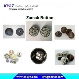 China Zamak 5 zinc alloy die casting metal button making machine on sale