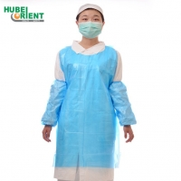 Quality Dust Prevention Polythene One Time Apron 28''X42'' 28''X46'' for sale