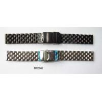 China Brush / Matt Solid Stainless Steel Wrist Watch Band, 20mm, 22mm, 24mm Black / Silver Watchbands on sale