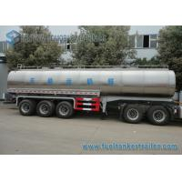 45m3 304 2B Edible Grade Chemical Tank Trailer 3 Axle For Milk / Liquid Food