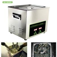 Quality 200W 10l Ultrasonic Digital Cleaner Tabletop For Automotive Parts Motor Engine for sale