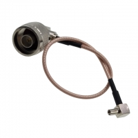 N Male To R/A TS9 Male  RG316 Coaxial Cable Extension Cord Right Angle
