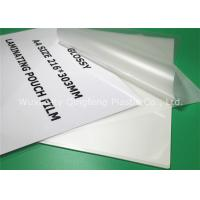 Quality Clear A4 Size Laminating Pouch Film Lamination Pouches For Document for sale