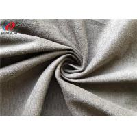 Quality 100% Polyester Micro Brushed Faux Suede LeatherFabric , Upholstery Fabric for sale
