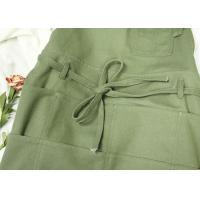 China Green Garden Kitchen Cooking Apron For Men Women With Long Waist Strap on sale