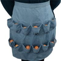 China Adult Pretty Egg Collecting Apron , Plain Egg Picking Apron Unique Half Size on sale