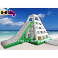 9m tall outside blow up rock climbing wall hot welded pyramid shape