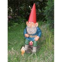 Quality 2012 new fashion resin decorative standing garden gnome mushroom decoration for sale