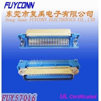 Quality Male 14 24 36 50 Pin DDK Centronic Right Angle PCB Connector Certified UL for sale