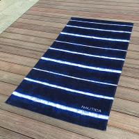 Buy cheap Soft Promotional Mens Beach Towel / Striped Beach Towels Blue And White from wholesalers