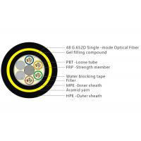 Quality Aramid Yarn ADSS Fiber Cable With Double HDPE Sheath Water Blocking Tape for sale