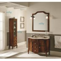Quality Waterproof Solid Wood Transitional Bathroom Vanities With Left Or Right Side Cabinet for sale
