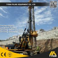 Buy cheap Diameter 1000mm 32m Friction Kelly Bar Piling Rig Machine TYSIM KR90C from wholesalers