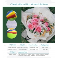 Quality Chemical Bond Interlining / Gum Stay Non-woven Fabric 1025HF 1035HF 1040HF 1050HF 1070HF for sale