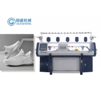 Quality 14G Computerized 3d Flyknit Shoe Upper Knitting Machine GUOSHENG for sale
