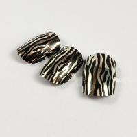 Quality Custom Sliver Metallic Fake Nails with Leopard Printing and Full Nail Stickers for sale