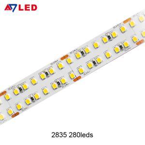 Quality Adled light high brightness led tape light 280leds 24v 3000K 5600K 6500K flexible led strip for led aluminum snap light for sale