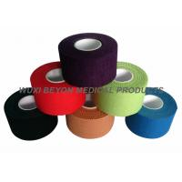 Quality Colored Sports Tape 100% cotton with good adhesive hot melt glue, no residue for sale
