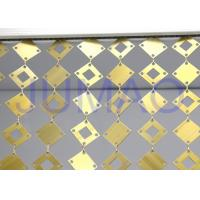 Quality Geometrical Plates Decorative Metal Curtains Gold Round Plates For Interior for sale