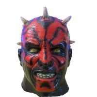 China X-MERRY Darth Maul Mask Deluxe Latex Mask Star Wars Costume Accessory on sale