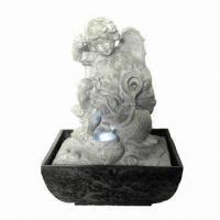 China Polyresin Angel Fountain with LED on sale